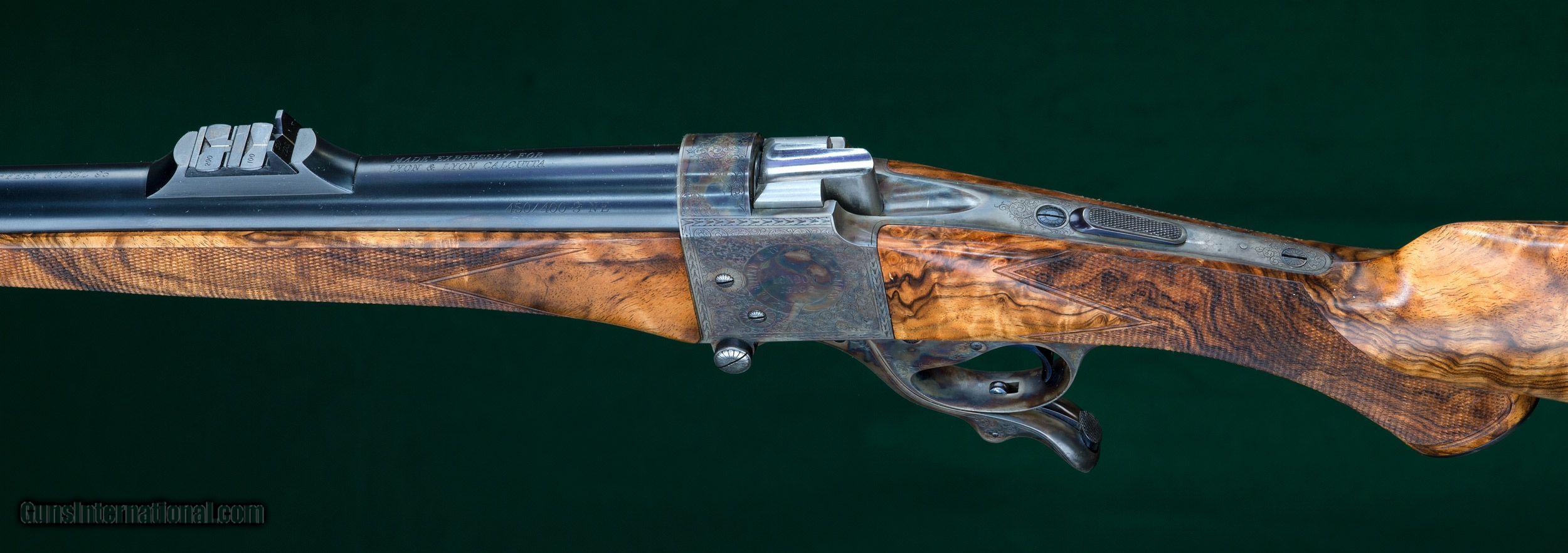 w j jeffrey farquharson falling block rifle 450 400 3