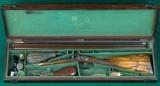 manton --- cased percussion sidelock shotgun --- 14 bore