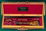 """westley richardssidelock ejector12 gauge, 2 3/4"""" chambersin oak & leather case"""