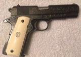 Colt Combat Commander 70 Series Engraved/Ivory Roland Robidoux Engraved
