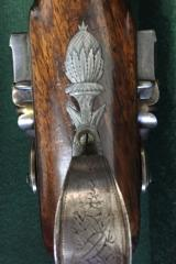 JOHN MANTON CASED 16 BORE DOUBLE BARREL FLINTLOCK SPORTING GUN - CIRCA 1796 - In Manton Books - 8 of 12