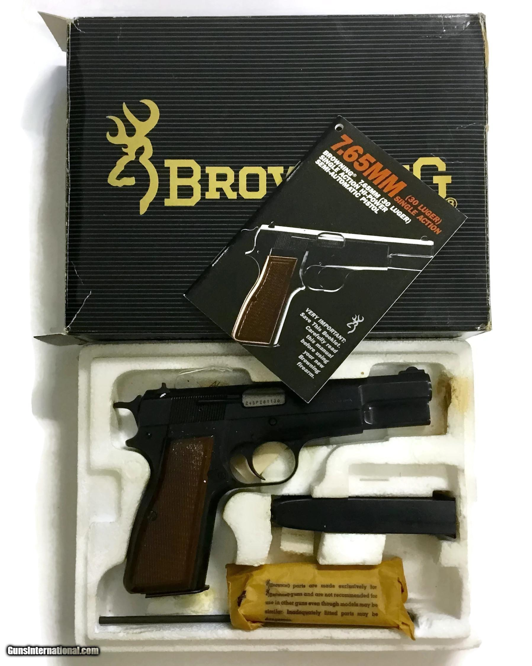 HIGHLY COLLECTIBLE 30 LUGER BROWNING HI-POWER AS NEW IN BOX, NIB