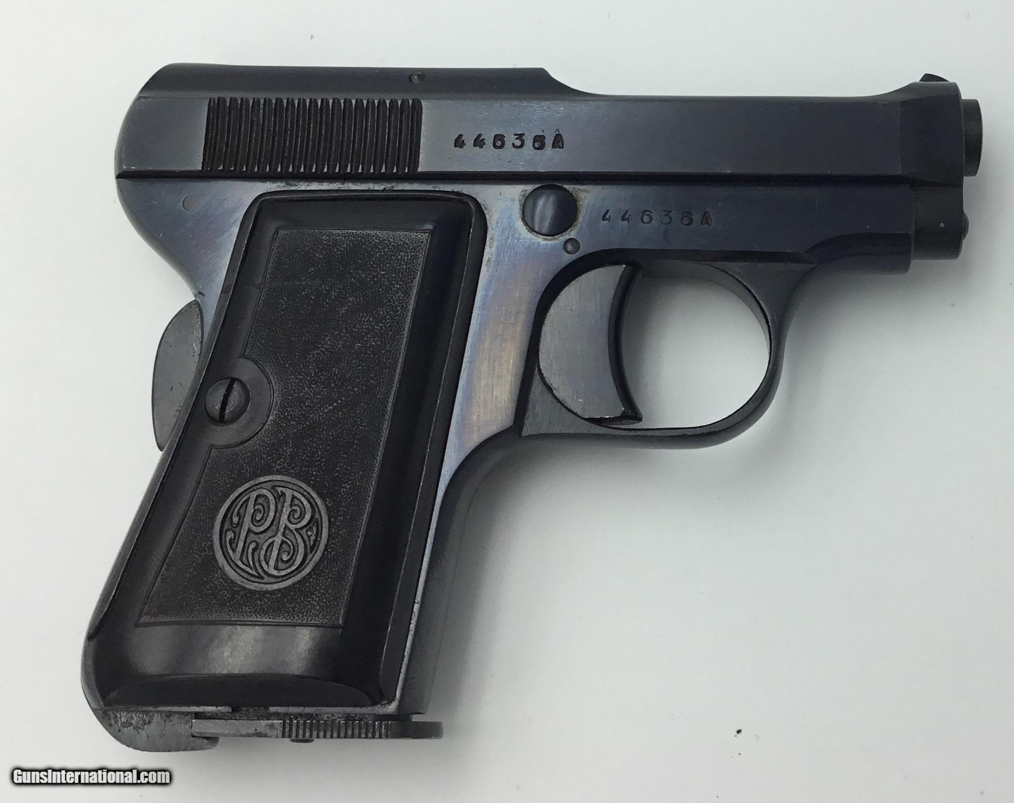 BERETTA MODEL 635 BREVET 6.35 X 25 CAL PISTOL - EXC+ CONDITION Made 1950 -  1 ...