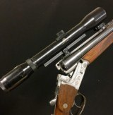 Krieghoff Drilling - 16/70 x 16/70 x 7x65r w/ Nickel Supra 1.5x6 Claw Mount Scope - Priced to Sell!! - 1 of 11