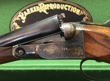 As New Parker Reproduction DHE 20GA - Leather Cased - Fantastic Figured English Straight Stock Wood - w/ Manual