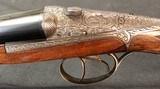Exhibition Grade Darne Shotgun - 16ga SxS - Fabulous Full Coverage Scroll and Game Scene Engraving - Exc Dimensions - 5 of 15