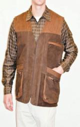 FAMARS USA Men's Two-Toned Nubuck Leather Vest