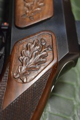 J.P. Sauer & Son Model 200 Bolt Action Rifle with Schmidt & Bender Scope, Carved Stock and Case - 8 of 23