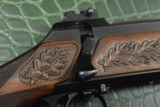 J.P. Sauer & Son Model 200 Bolt Action Rifle with Schmidt & Bender Scope, Carved Stock and Case - 19 of 23