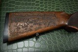 J.P. Sauer & Son Model 200 Bolt Action Rifle with Schmidt & Bender Scope, Carved Stock and Case - 15 of 23