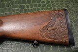 J.P. Sauer & Son Model 200 Bolt Action Rifle with Schmidt & Bender Scope, Carved Stock and Case - 6 of 23
