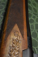 J.P. Sauer & Son Model 200 Bolt Action Rifle with Schmidt & Bender Scope, Carved Stock and Case - 10 of 23