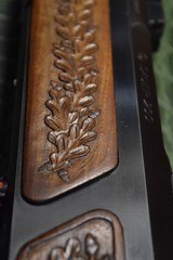 J.P. Sauer & Son Model 200 Bolt Action Rifle with Schmidt & Bender Scope, Carved Stock and Case - 9 of 23