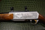 """Master Engraved """"VRANCKEN"""" Signed Belgian Browning Grade IV BAR Semi-Automatic Sporting Rifle 30.06 with Scope Base and Rings - 7 of 16"""