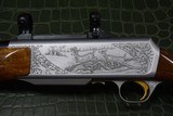 """Master Engraved """"VRANCKEN"""" Signed Belgian Browning Grade IV BAR Semi-Automatic Sporting Rifle 30.06 with Scope Base and Rings - 11 of 16"""