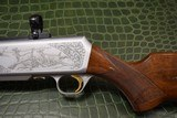 """Master Engraved """"VRANCKEN"""" Signed Belgian Browning Grade IV BAR Semi-Automatic Sporting Rifle 30.06 with Scope Base and Rings - 8 of 16"""