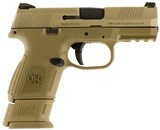 FN FNS9 Combat, 9mm. 3.6? Barrel, 12+1/17+1 Rounds, FDE Interchangeable Backstrap Grip, Flat Dark Earth Stainless Steel Frame - 1 of 1
