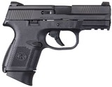 FN FNS-9 Compact, 9mm, 3.6? Barrel, 17+1 Rounds, Black Polymer Grip, Black Finish