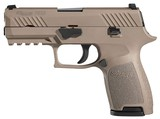 "Sig Sauer, P320 Compact Pistol, 9mm, 3.9"" Barrel, Integral Grips, Night Sights, Flat Dark Earth Finish, 15+1 Rounds"