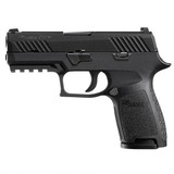 "SIG Sauer P320 Nitron Compact Semi Auto Pistol 9mm Luger 3.9"" Barrel 15 Rounds SIGLITE Sights"