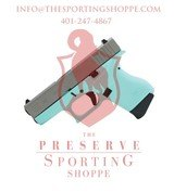 Glock G43 Tiffany Blue 9mm Handgun