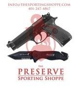 Beretta M92FS 9mm Handgun + Famars SRT Black Knife Combo