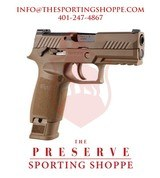 "SIG P320-M18 Commemorative Semi-Auto 9MM 3.9"" Handgun"