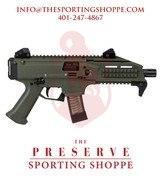 "CZ-USA Scorpion EVO 3 S1 OD Green Semi-Auto 9mm 7.72"" Handgun - 1 of 3"
