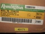 "Remington Model 700 5-R Stainless .223/5.56 20"" Threaded Barrel - 1 of 5"
