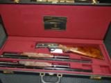 Winchester Model 42 2 Barrel set engraved by Angelo Bee