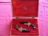 Colt Derringer Commemorative Set, cal. 22 Short (Consecutive Serial Number) single-shot pistols