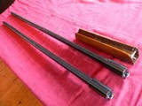 """Two (2) Silver Seitz Trap Barrels (one 34"""", and one 35"""" with forearm)"""