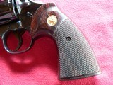 """Colt Python cal. 357 Mag. 6"""" Blue Revolver manufactured in 1981 - 9 of 16"""