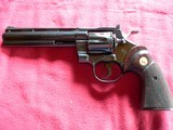 """Colt Python cal. 357 Mag. 6"""" Blue Revolver manufactured in 1981 - 2 of 16"""