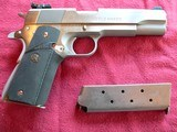 Springfield Armory Model 1911-Al stainless steel .45 ACP cal. semi-automatic Pistol. - 1 of 5