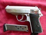 Walther PPK/S (Interarms) Stainless steel semi-automatic Pistol - 2 of 5