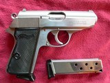 Walther PPK/S (Interarms) Stainless steel semi-automatic Pistol - 1 of 5