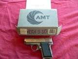 AMT Model 380 Back-Up, cal. 380 Auto Stainless steel Pistol