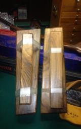 gunstock blanks 2 piece and one piece. Walnut. Very nice grain in all wood - 1 of 3