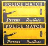 Peters Police Match 45 Auto wad cutter - 2 boxes, 100 rounds - nice boxes