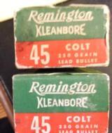 Remington Kleanbore 45 Colt - 2 boxes - 50 + 46 = total 96 rounds