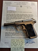 Cased set of Savage M1907 .380ACP pistols (blue & nickel) with factory letters and so much more! - 10 of 14