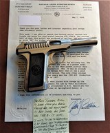 Cased set of Savage M1907 .380ACP pistols (blue & nickel) with factory letters and so much more! - 9 of 14