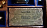 Cased set of Savage M1907 .380ACP pistols (blue & nickel) with factory letters and so much more! - 3 of 14