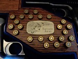 Cased set of Savage M1907 .380ACP pistols (blue & nickel) with factory letters and so much more! - 6 of 14