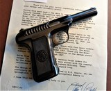 Cased set of Savage M1907 .380ACP pistols (blue & nickel) with factory letters and so much more! - 8 of 14