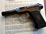 Cased set of Savage M1907 .380ACP pistols (blue & nickel) with factory letters and so much more! - 7 of 14