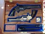Cased set of S&W Model #2 Old Army Revolvers .32RF, blue and nickel, with factory letters and so much more!