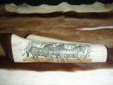 Hand Scrimshawed Giraffe Shin bone - 1 of 2