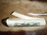 Hand Scrimshawed Giraffe Shin bone - 2 of 2